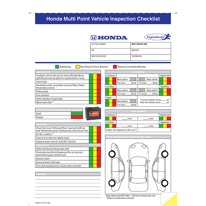 Multi point inspection form gm graphic resources inc multi point inspection form gm altavistaventures Images