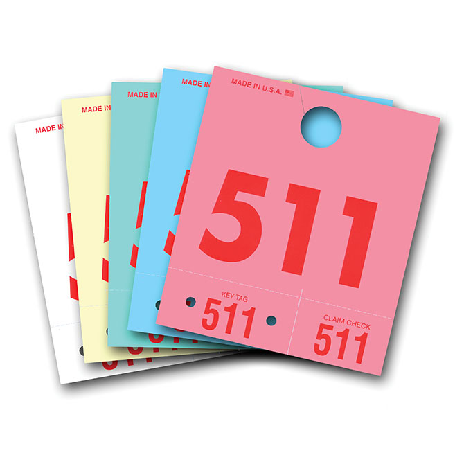 Colored Dispatch Numbers & Key Tags