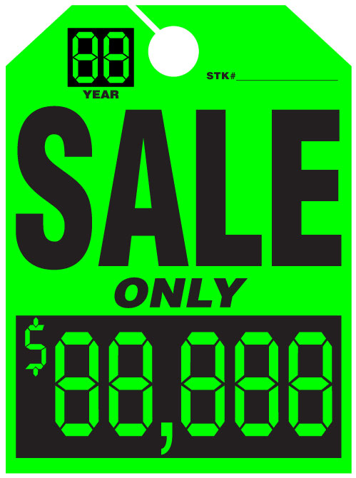 Mirror Hang Tags - PICK YOUR PRICE - Graphic Resources Inc.